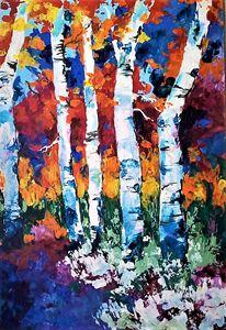 beech trees in verdant forest