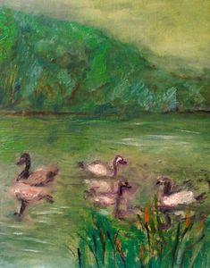 Scène sur le lac