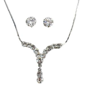Sparkling Crystal Clear Necklace Set