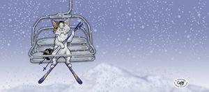 Wendell on the Ski Lift