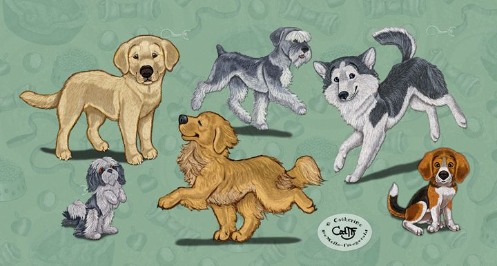 Puppydreams - Illustration by Cat