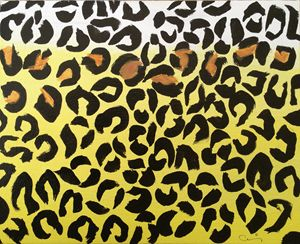 Yellow and brown cheetah