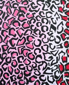 Pink and red cheetah