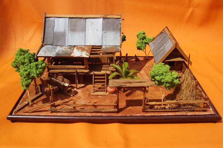 Thai house wooden model - Zinc roof - KiddeeThaihouses
