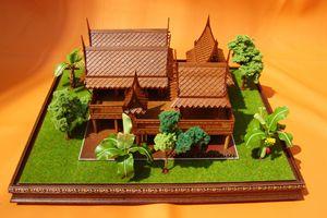 Thai house model - 4 houses