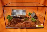 golden teak wood thai house model