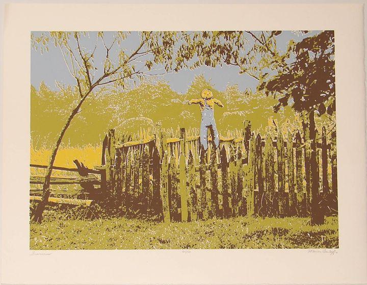 SCARECROW - Original Fine Art by Marion Lantaff