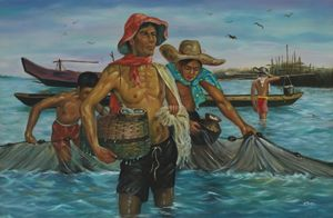Native Fishermen in the Philippines - Geronimo's Paintings