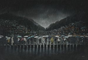 Ancient Water Town in China - Geronimo's Paintings