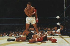 Muhammad Ali fighting in 1965