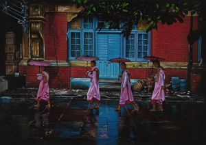 Procession of Nuns in Burma