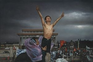 Chinese Students on Tiananmen Square