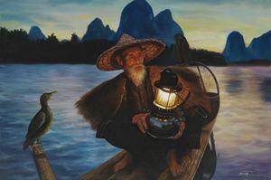 Fisherman in China - Geronimo's Paintings