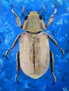 Golden blue beetle