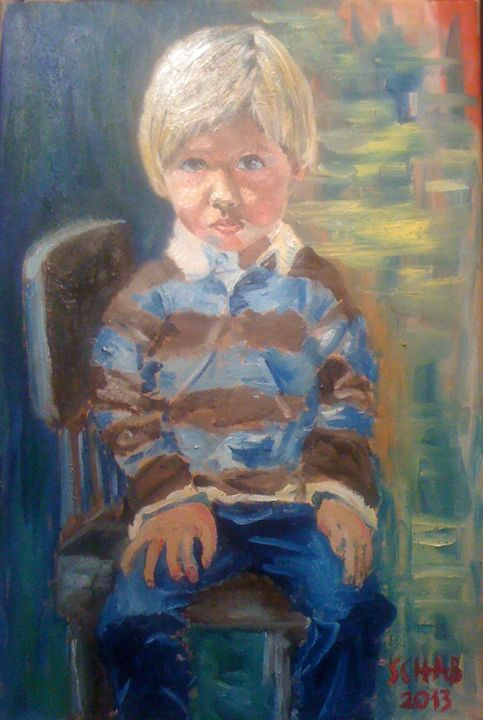 FRANK ON THE CHAIR - davidschab gallery