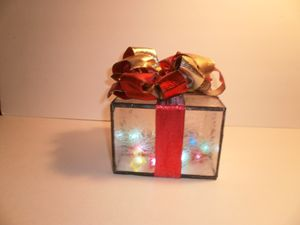 Clear Frosted Stain glass box