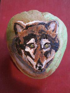 Wolf on Stone
