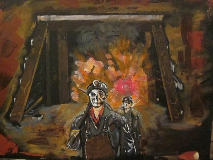 Mine Explosion - chris cooper's art
