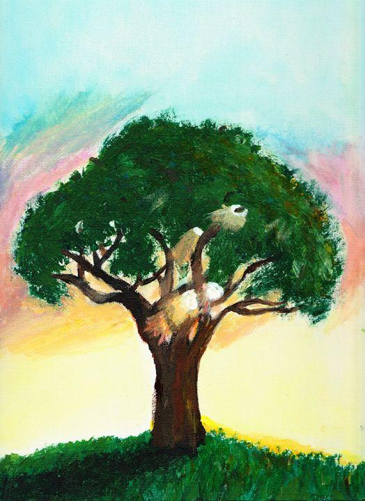 Tree at sunset - Karl art