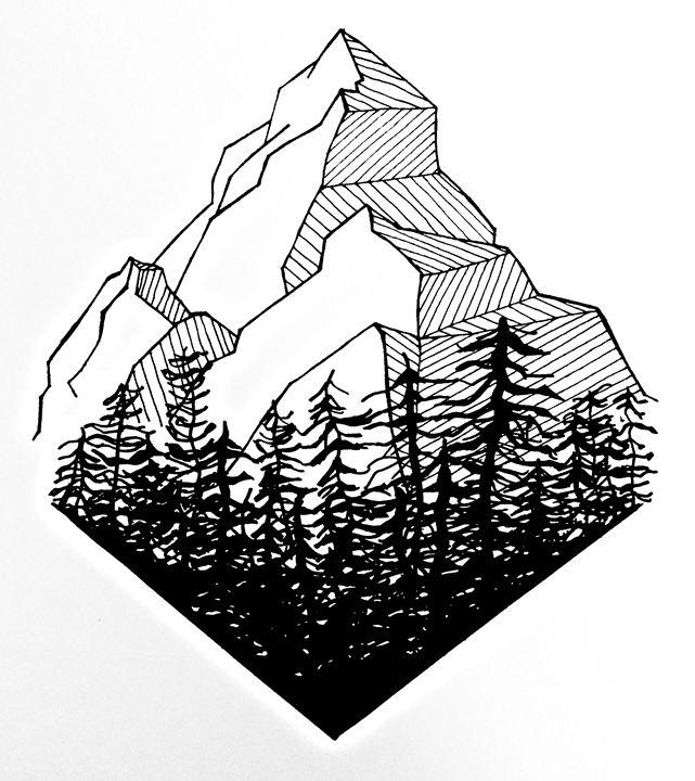 Mountain Range - Geometric Design