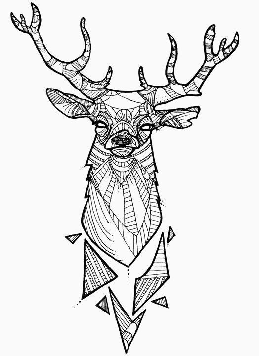Geometric Reindeer - Geometric Design