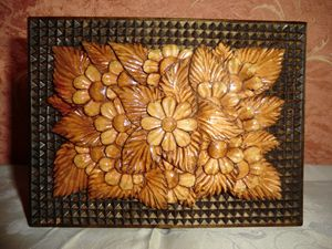 Jewelry box Flowers Art Wood Carving - Gennady Makulov. The art of carving