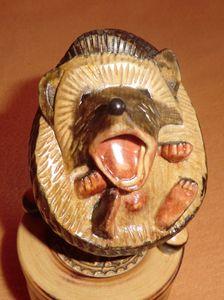 Hedgehog Sculpture Art Carving - Gennady Makulov. The art of carving