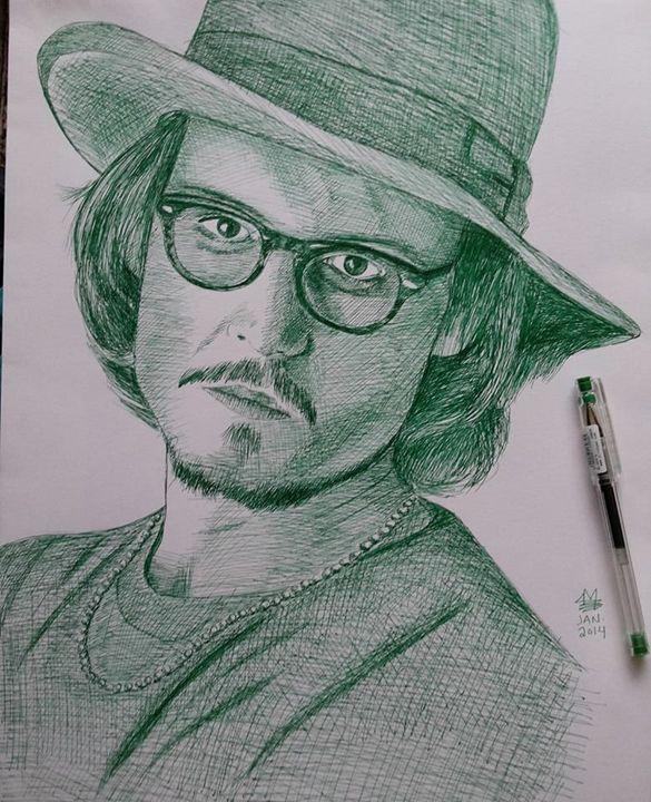 Johnny Depp Portrait -  Mohammad.aljayyousi