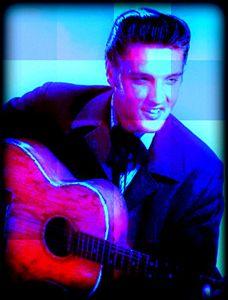 Elvis Presley by paradiseblueart