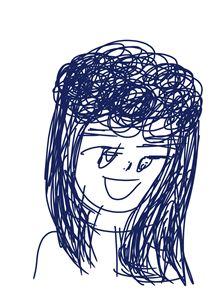 Cô gái tóc xù