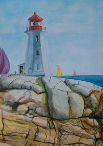 A Nova Scotia lighthouse