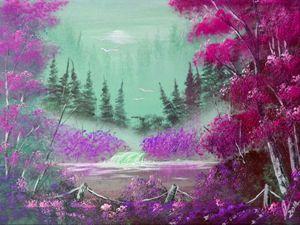 Pink and Violet  Mist