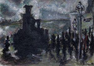 impressionist train station