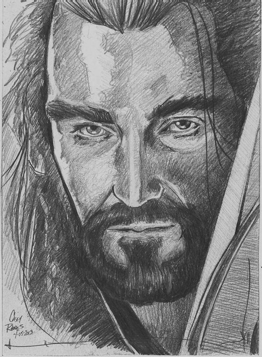 thorin - Paint and Sketch by Casey Rhodes