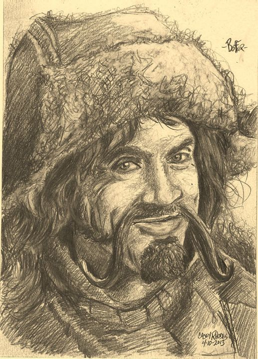 bofur - Paint and Sketch by Casey Rhodes