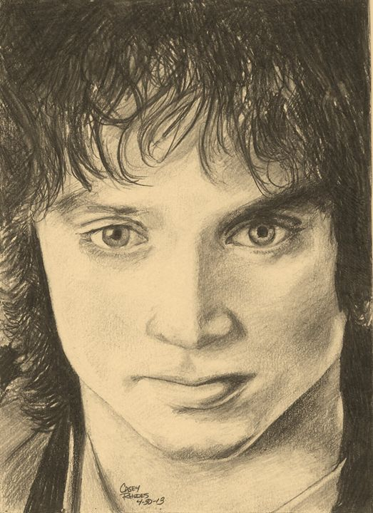 frodo - Paint and Sketch by Casey Rhodes