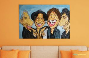 Rolling stone caricature painting