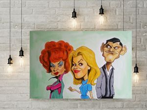 Bewitched caricature painting