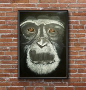 monkey painting acrylic