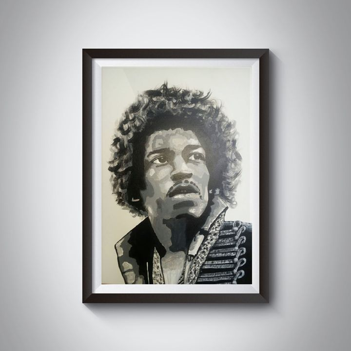 Jimmy Hendrix painting - Jimmy Morrison