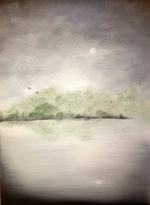 18x24 Misty Morning Oil Painting
