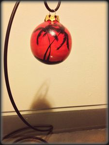 Hand-painted Ornament - Palm Trees
