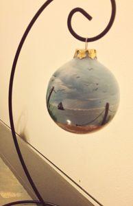 Hand-painted Ornament - Beach Scene