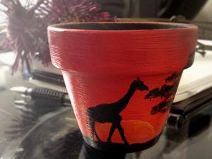 Mini Painted Pot - African Sunrise