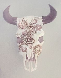 Maroon Skull with Maroon Details
