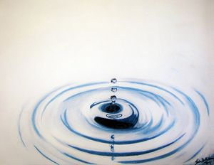 Drop on the water