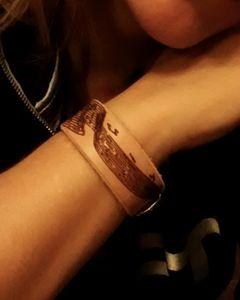 Leather cuff, unisex, adjustable