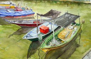 Fishing Boats at Terengganu