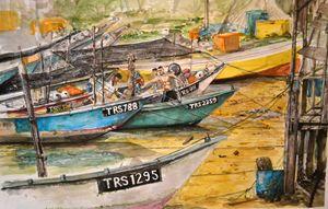Fishing Boats at Marang