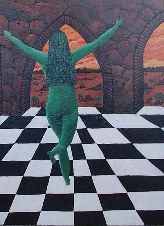 The green lady - Sheffield Art